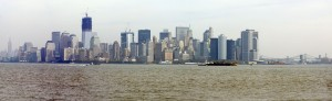Panoramica Downtown da Liberty Island